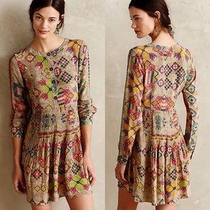 Anthro Hemant & Nandita Pintucked Prima Dress Sz 4